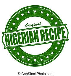 Nigerian recipe - Stamp with text Nigerian recipe...