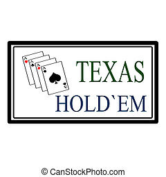 Stamp with text Texas hold em inside, vector illustration
