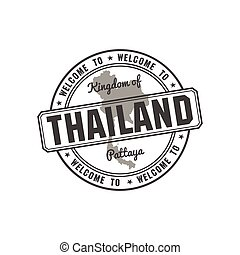 stamp with Thailand map vector - stamp with Thailand map...
