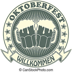 Stamp with the image of a beer symb