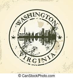 stamp with Washington, Virginia