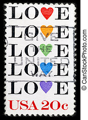 Stamp with word love
