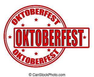 Oktoberfest - Stamp with word Oktoberfest inside, vector ...