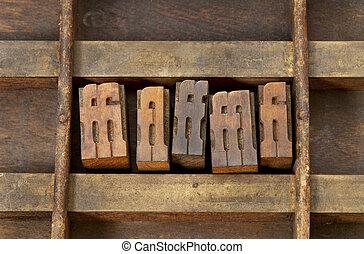 stampa blocca, legatura, letterpress
