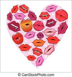stampa, cuore, labbro