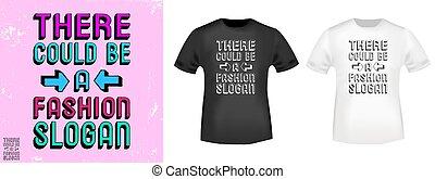 stampa, t, essere, could, francobollo, là, slogan, moda, ...