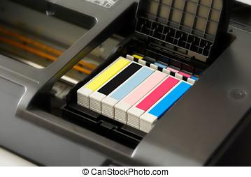 stampante, cartucce, inchiostro