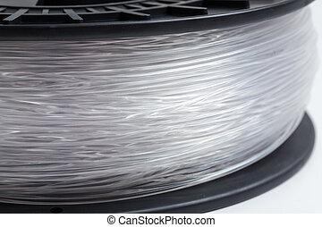 stampante, chiaro, cristallo, luminoso, fondo, filamento, 3d