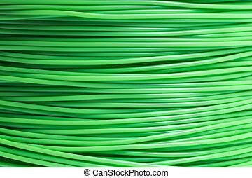 stampante, luce, dettaglio, verde, filamento, 3d