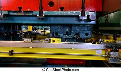 stamping line on car factory