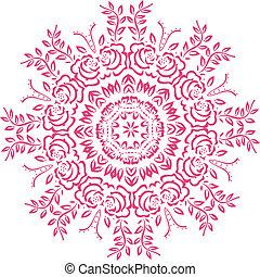 stampino, indiano, mandala, disegno