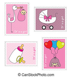 Stamps baby girl