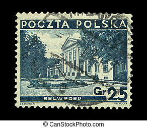 Stamps - Vintage Polish post stamp, circa 1935s.