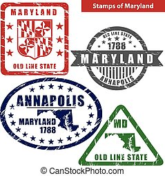 Stamps of Maryland, USA