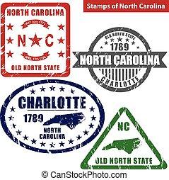Stamps of North Carolina, USA
