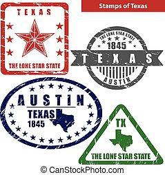 Stamps of Texas, USA
