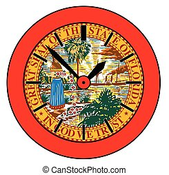 stan, floryda, zegar