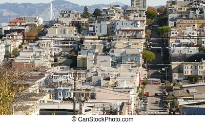 stan, inny, kalifornia, san, wiktoriański, spadek, ulica, ...