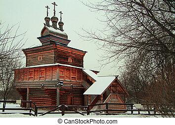 stan, królewski, kolomenskoye, dawny, święty, kościół, jerzy