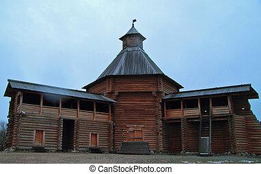 stan, królewski, mokhovaya, kolomenskoye, palisada, wieża, dawny, suma