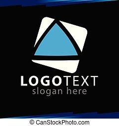 stan, trojúhelník, do, čtverec, emblém, vektor