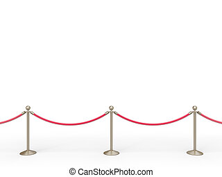 stanchions, barriera