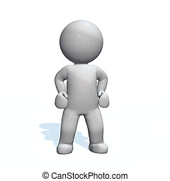 stand - 3D People isolated