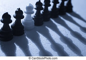 Stand Alone - Dare to be different - A single white pawn...