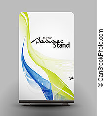 stand banner template - a rolup display with stand banner...