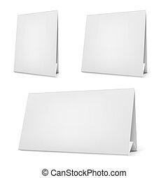 stand., escrivaninha, vetorial, calendário, em branco