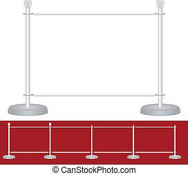 Stand exhibition barrier