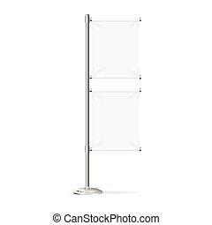 stand., flag, vektor, banner, blank