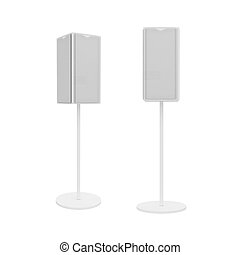 stand Isolated on White Background, 3D rendering