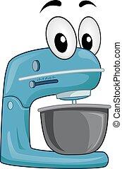 Stand Mixer Mascot Illustration