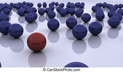 stand out ball concept - 3D render of stand out ball ...