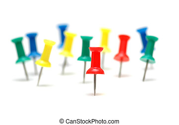 ""\""""Stand out from the crowd""""  concept  with color pins""361|254|?|en|2|7092f48ec7411bdc72b175f404de1333|False|UNLIKELY|0.28594231605529785