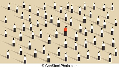 stand out from the crowd leadership different