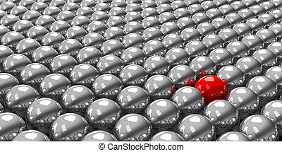 Stand out of the crowd #2 - Conceptual image of the...