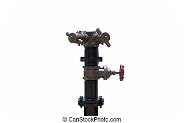 Stand pipe fire hydrant at boat pier isolated - Stand pipe...