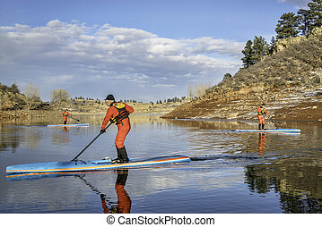 stand up paddling workout in Colorado