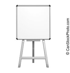 Stand Whiteboard isolated on white background. 3D render
