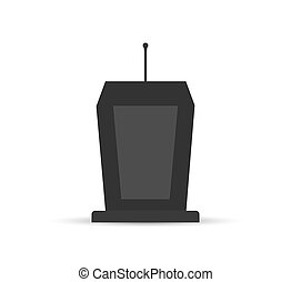 Stand with microphone, simple design, icon