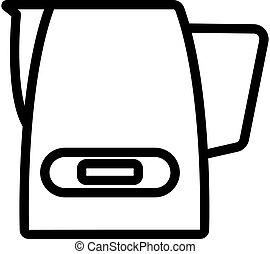 standalone cappuccinators device icon vector outline ...