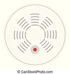Standalone smart smoke detector icon isolated on white ...