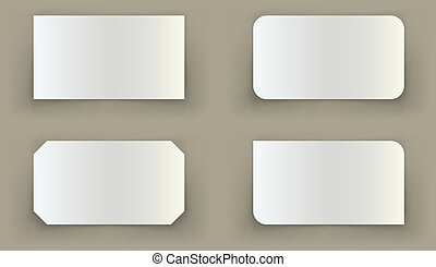 Standard business card shadow curled edges illusion template.