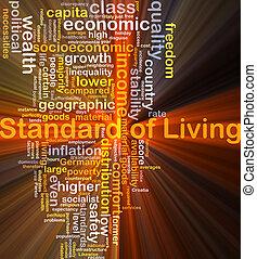 standard, i, kald, baggrund, begreb, glødende