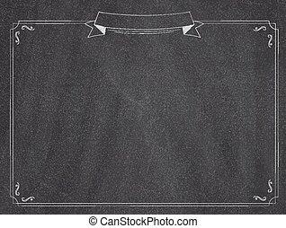 Cafe menu classic blackboard background