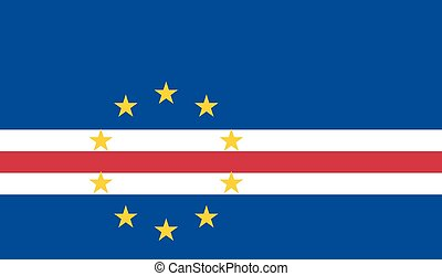 Standard Proportions and Color for Cabo Verde Flag