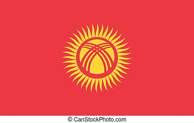 Standard Proportions for Kyrgyzstan Flag