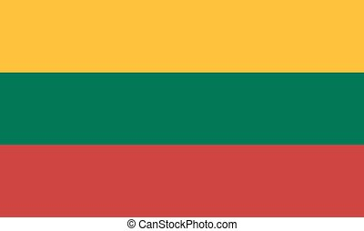 Standard Proportions for Lithuania Flag
